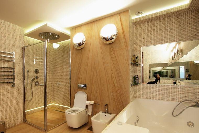 Design of bathrooms with hidden lighting - Shower Remodeling