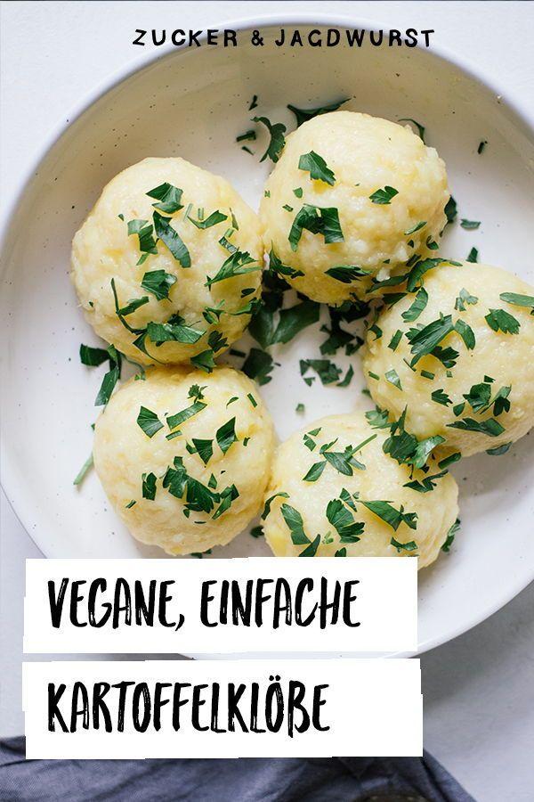 Vegane Kartoffelklöße mit Pilzgulasch und Rotkraut