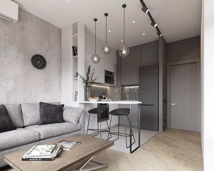Алексей Волков в Instagram: «Кухня-гостиная 15 кв.м. в ...