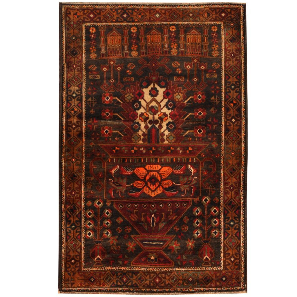 Herat Oriental Afghan Hand Knotted Tribal Balouchi Rug