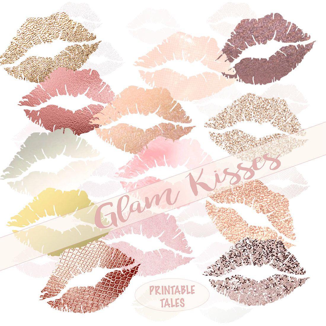 Blush Pink Lips Clipart Glamorous Kisses Glam Glitter Lips