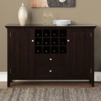 simpli home bedford sideboard buffet wine rack furniture rh pinterest com