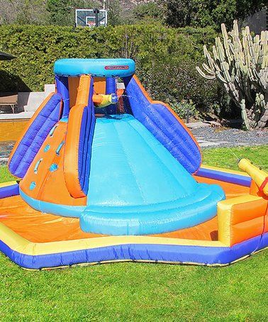 Loving this Battle Ridge Inflatable Water Slide on #zulily ...