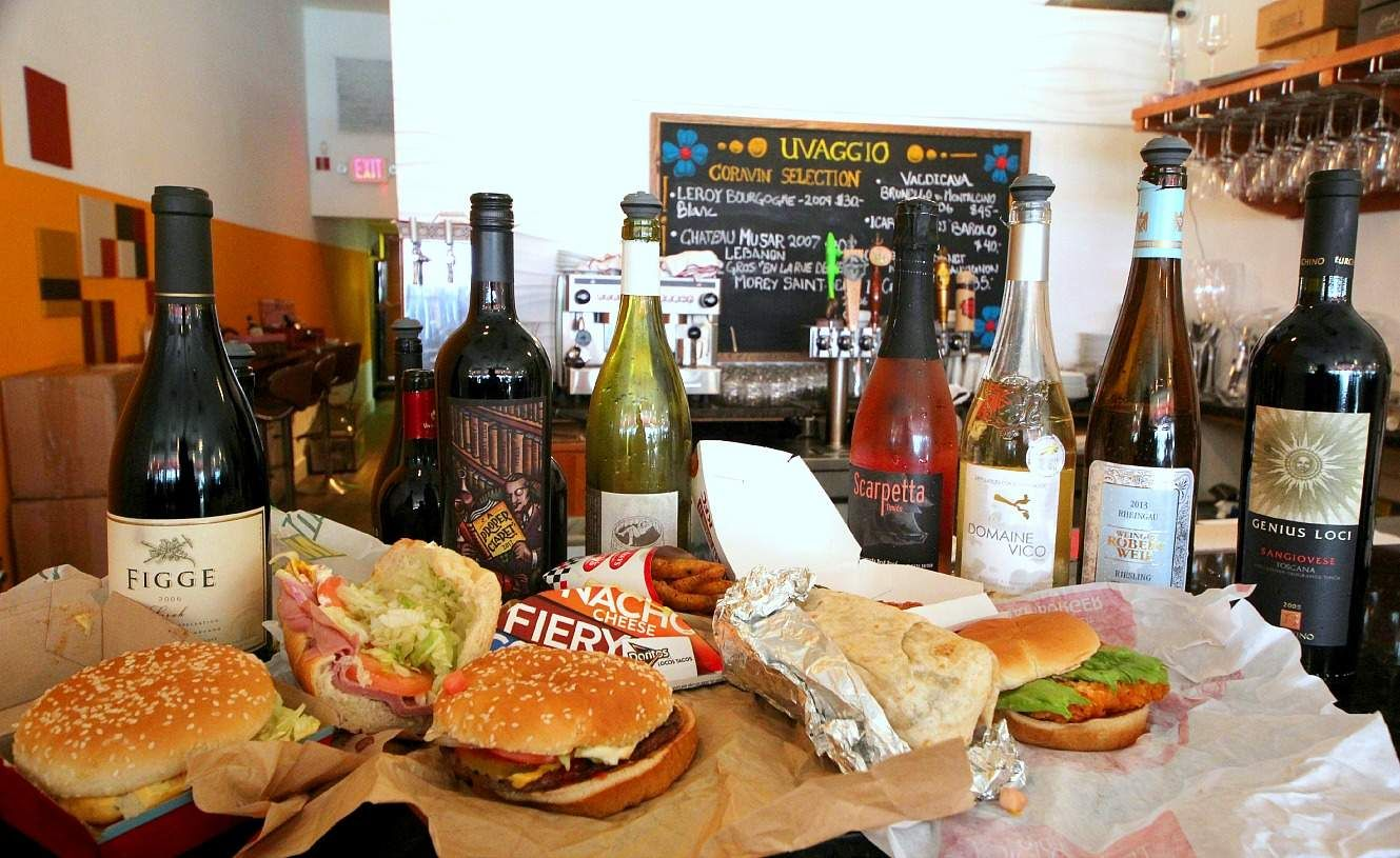 A sommelier pairs wine with 11 popular fastfood items