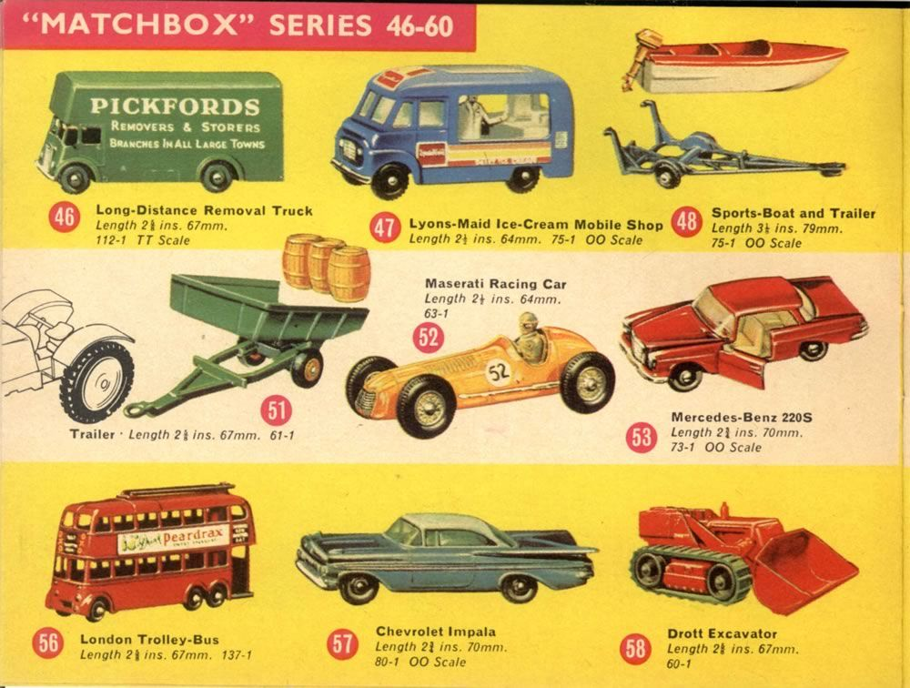 Matchbox Lesney 1965 catalog regular wheels 175 series