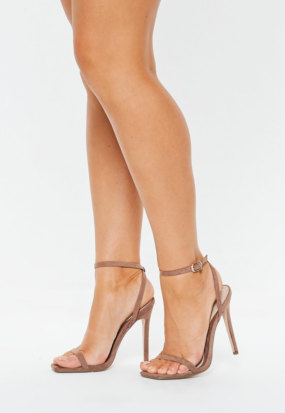 a6cc076d22 Missguided Taupe Barely There Heels in 2019 | S H O E S | Heels ...