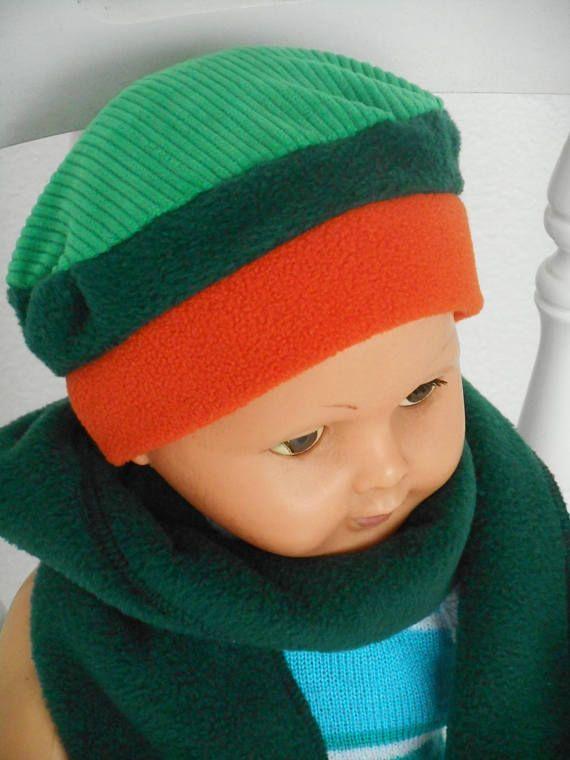 Bonnet béret chapeau naissance en velours et polaire pour bébé . Facile à  enfiler et agréable à porter! En velours tout doux,taille unique. 8e31aca0891