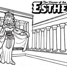 Queen Esther The Bible Heroes Coloring Page