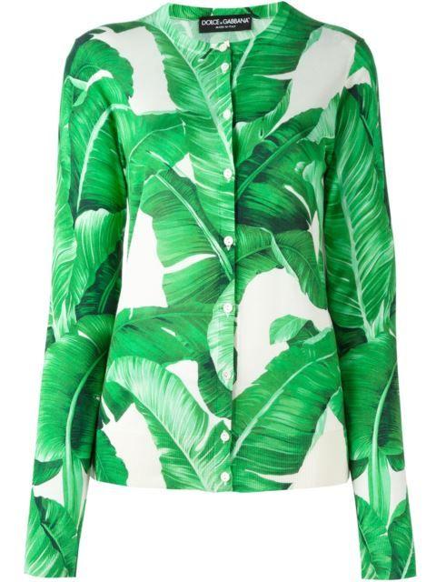 8bafcae8 DOLCE & GABBANA Banana Leaf Print Cardigan. #dolcegabbana #cloth #cardigan