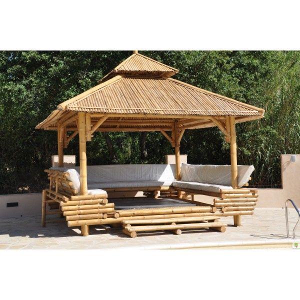 Paillotte Bambou Avec Images Paillote Bambou Deco Exterieure