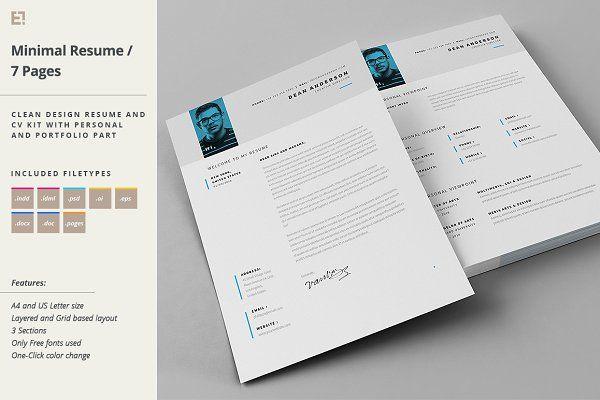 Resume - Portfolio - Letter - Resumes - 1 cv Pinterest