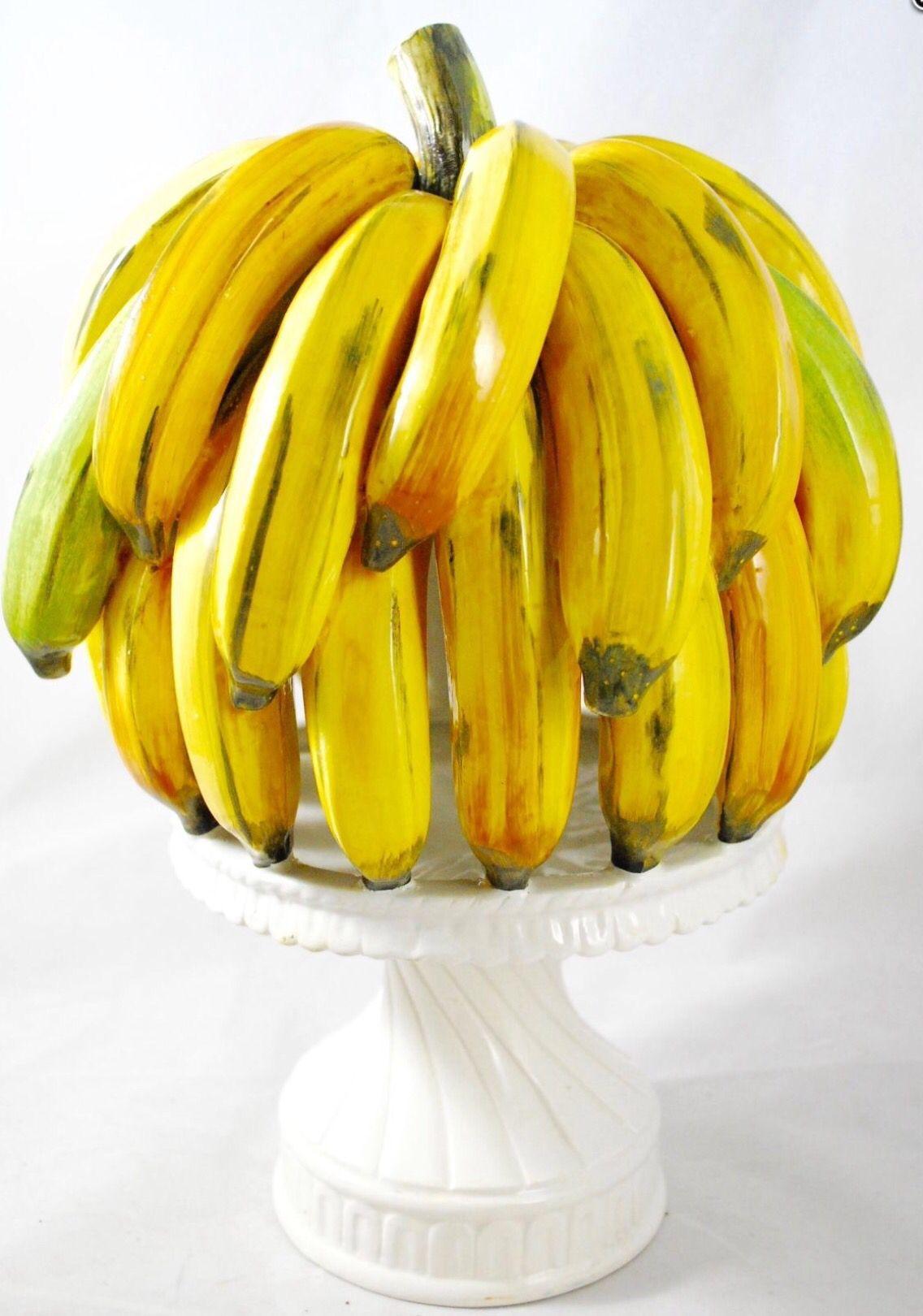 Italian ceramic banana topiary | Vegetables and Fruits | Pinterest