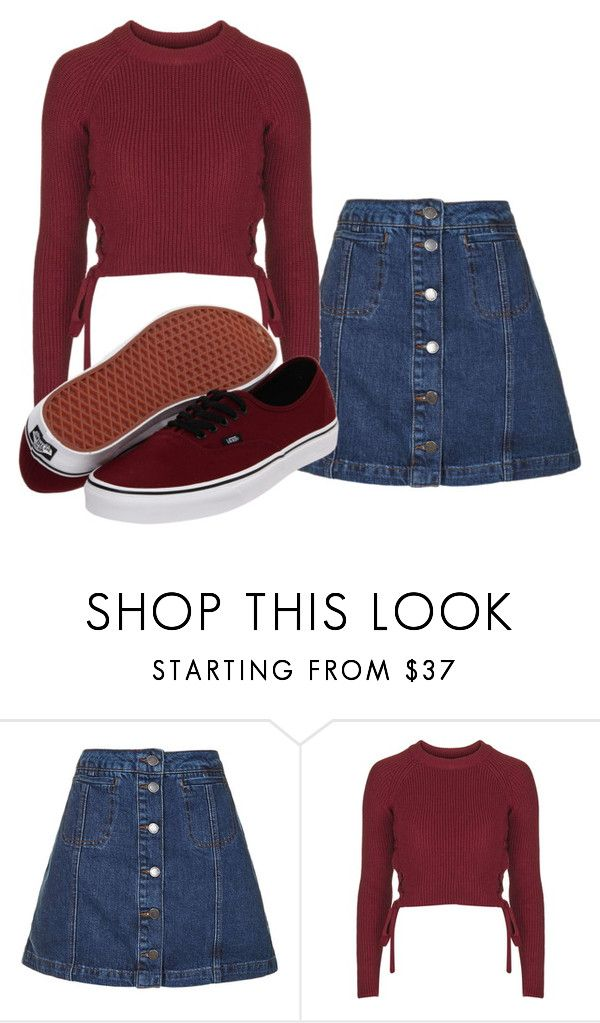 """Untitled #5"" by airamaivilo ❤ liked on Polyvore featuring Topshop and Vans"
