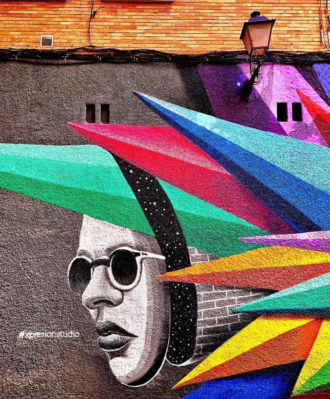 Instagram 39 Da Urban Art Redefined Vibrant Piece Created By World Famous Artist Okuda San Miguel Urban Art World Famous Artists Art