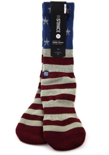 Mens 1 Pair Stance The Fourth American Flag Cotton Socks