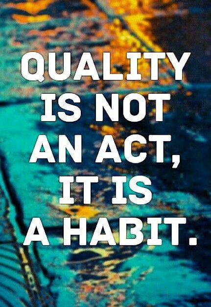 Habits repair a broken foundation....