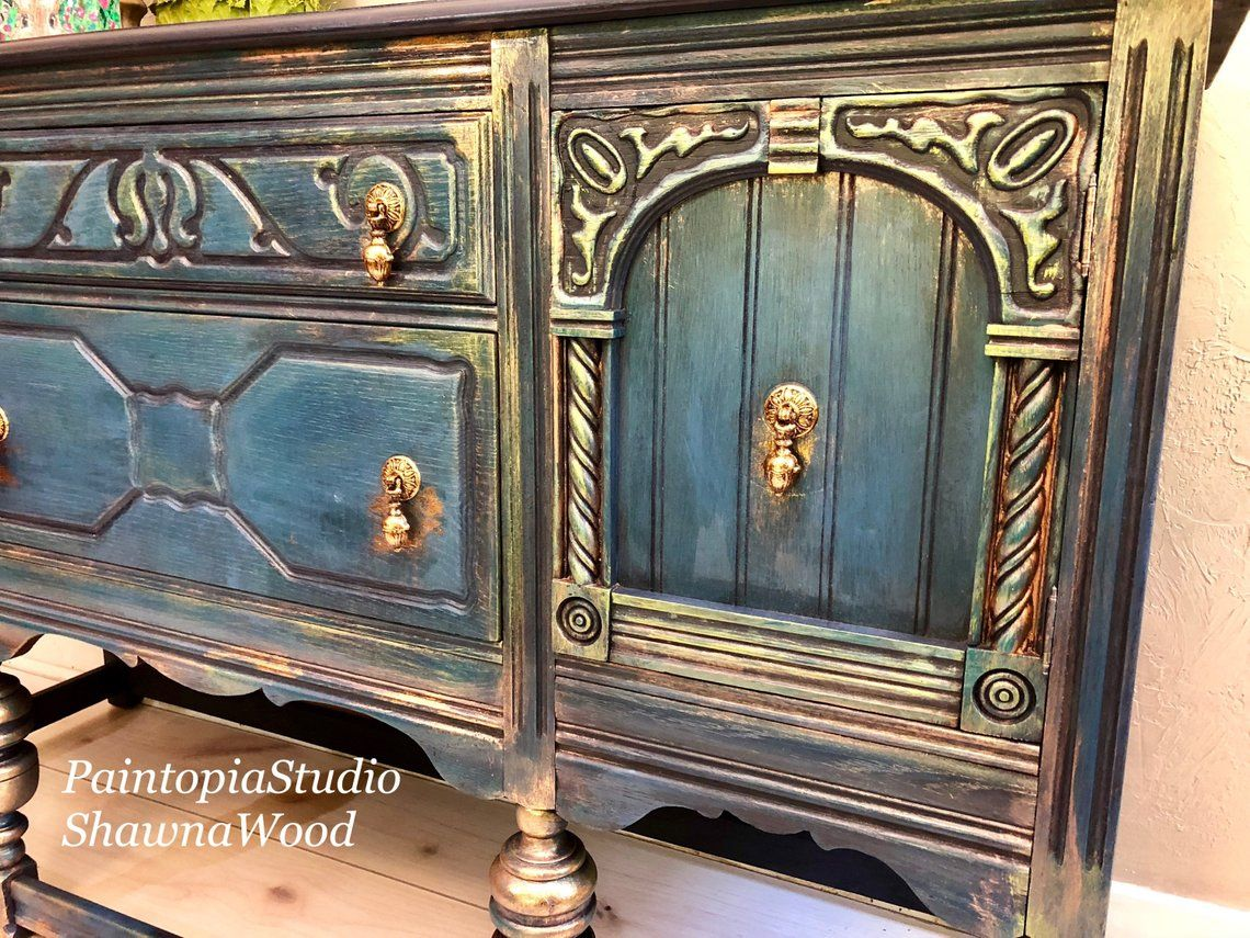 Sold Example Of Vintage Sideboard Dining Room Buffet Sideboard Jacobean Buffet Ornate Buffet Table Console Cabinet Sold Sold Sold Vintage Sideboard Dining Furniture Makeover Painting Wooden Furniture