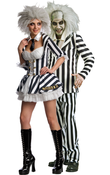 Beetlejuice Couple Costumes | Jokers Masquerade  sc 1 st  Pinterest : halloween costumes jokers masquerade  - Germanpascual.Com