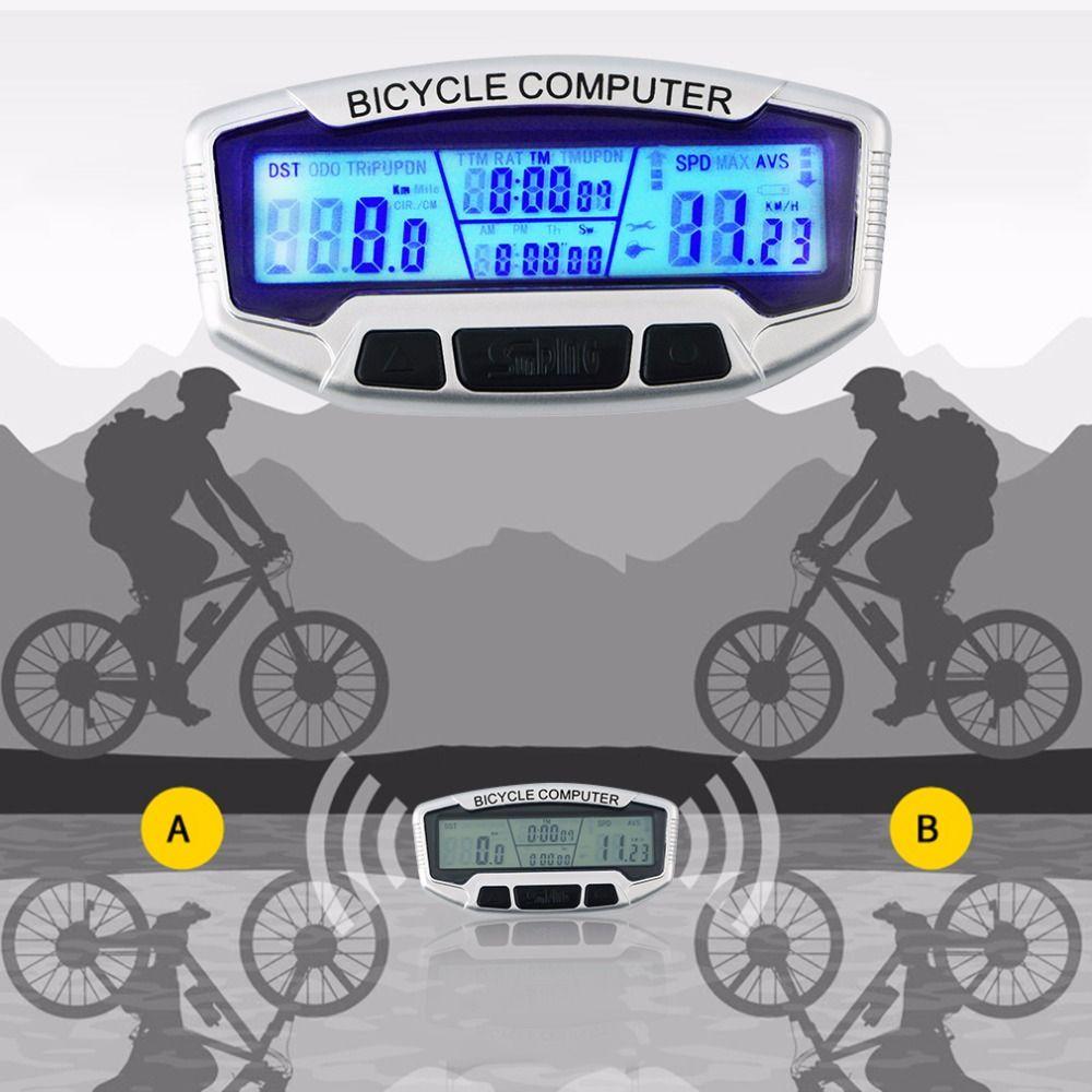 2017 Wireless Waterproof Lcd Bicycle Bike Cycling Computer Odometer Speedometer Velometer For Bike Wireless Bicycl Bicycle Accessories Bicycle Cycling Computer