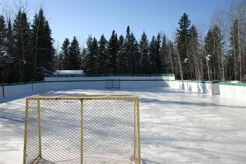 Outdoor Hockey Rinks Ice Rink Available In The Winter Is The Outdoor Ice Rink It Is Great Outdoor Outdoor Hockey Rink Ice Rink