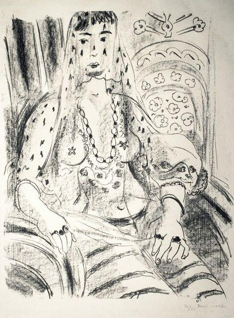 Henri Matisse, Odalisque voilee (Veiled Odalisque) (1925)