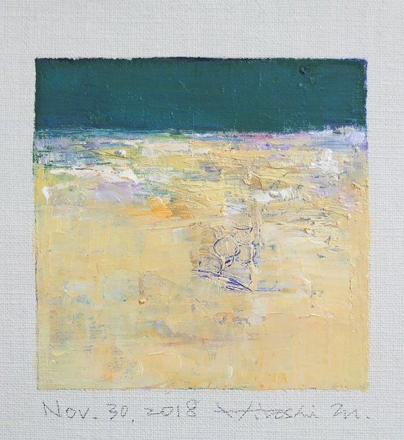 Nov. 30, 2018 Original Abstract Oil Painting 9x9