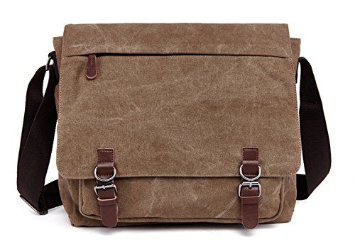 acd5d4caa8 Kenox Vintage Canvas Laptop Messenger Bag School Bag Business Briefcase 16  Inches http