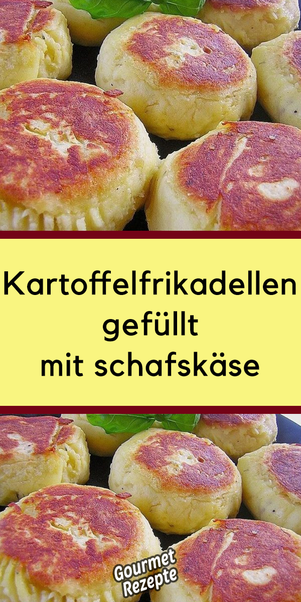 Photo of Kartoffelfrikadellen gefüllt mit schafskäse