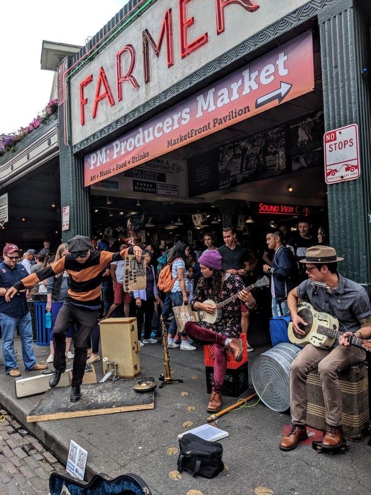 Seattle street musicians Seattle street, Street musician