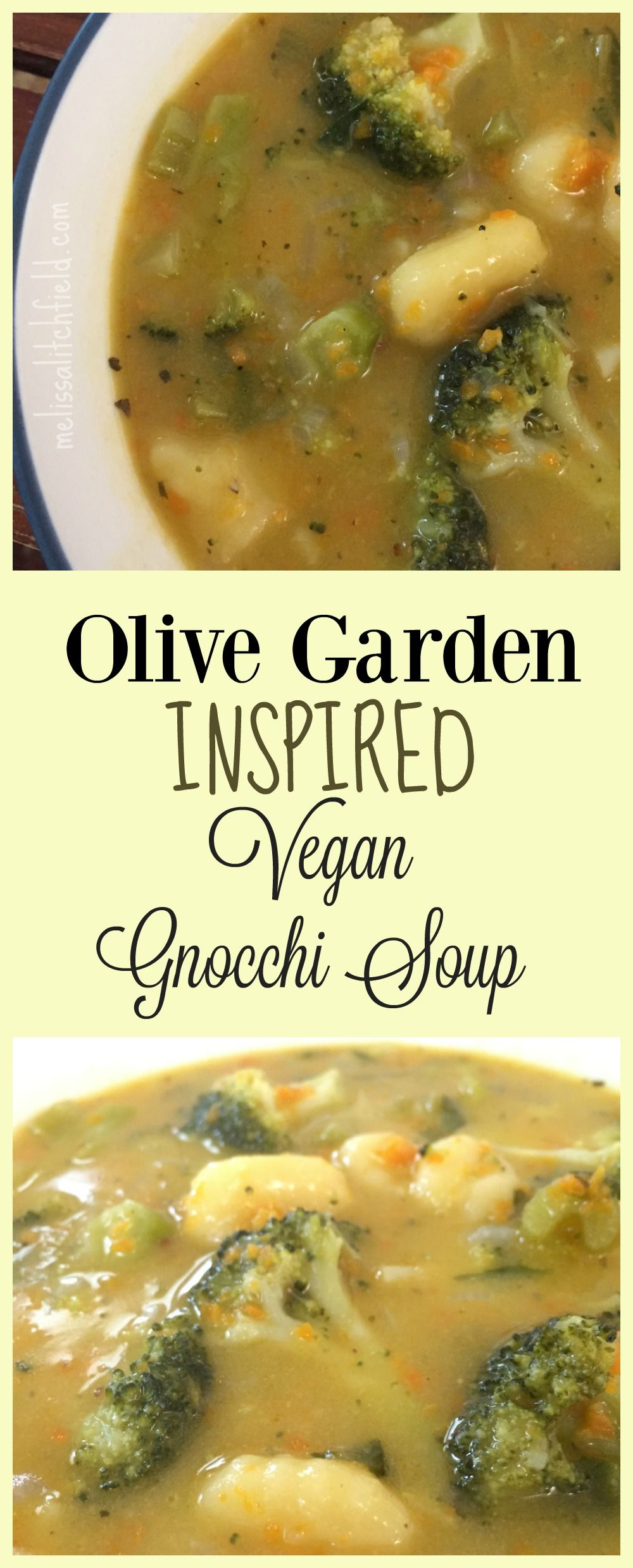 Olive Garden Inspired!! Vegan Gnocchi Soup vegan