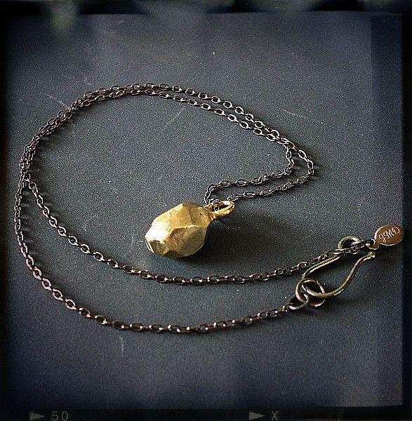 Krystallos Pendant Necklace in Brass - Joanna Morgan Designs