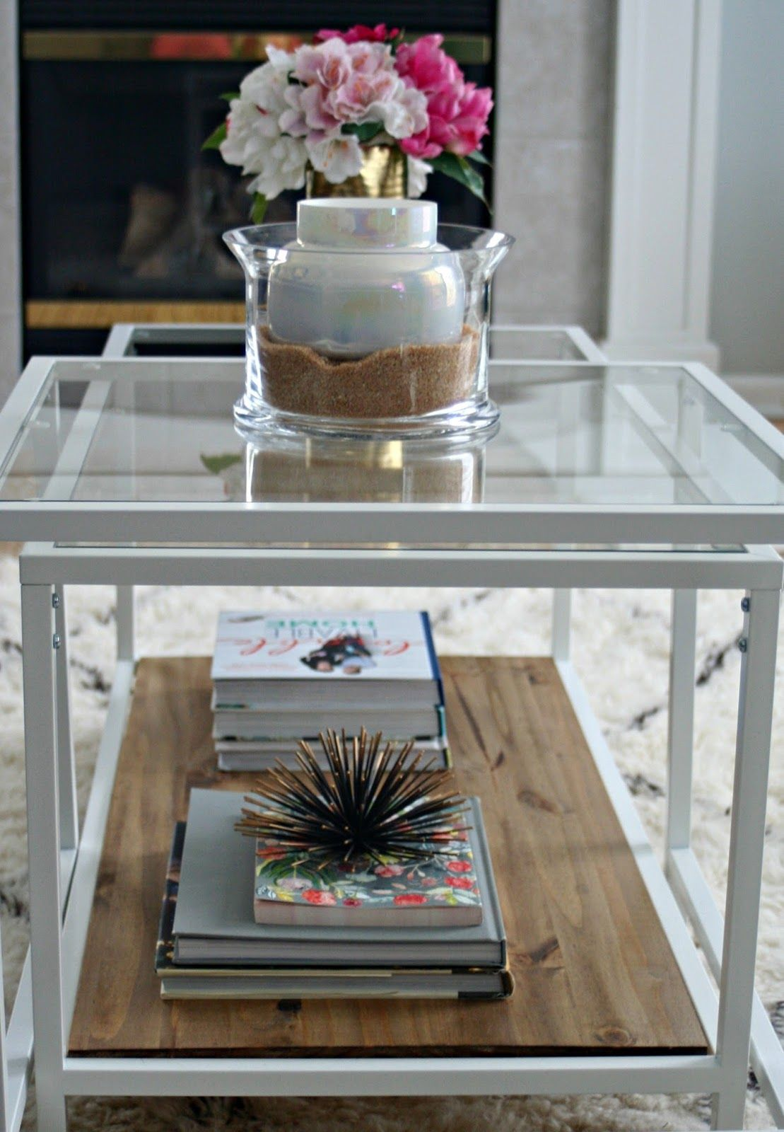 Ikea Couchtisch Mit Glas Ikea Vittsjo Hack With Stained Wood Perfect For Farmhouse Decor | Ikea Couchtisch, Couchtisch, Couchtisch Diy