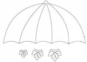 Umbrella Craft Template 1 Funnycrafts
