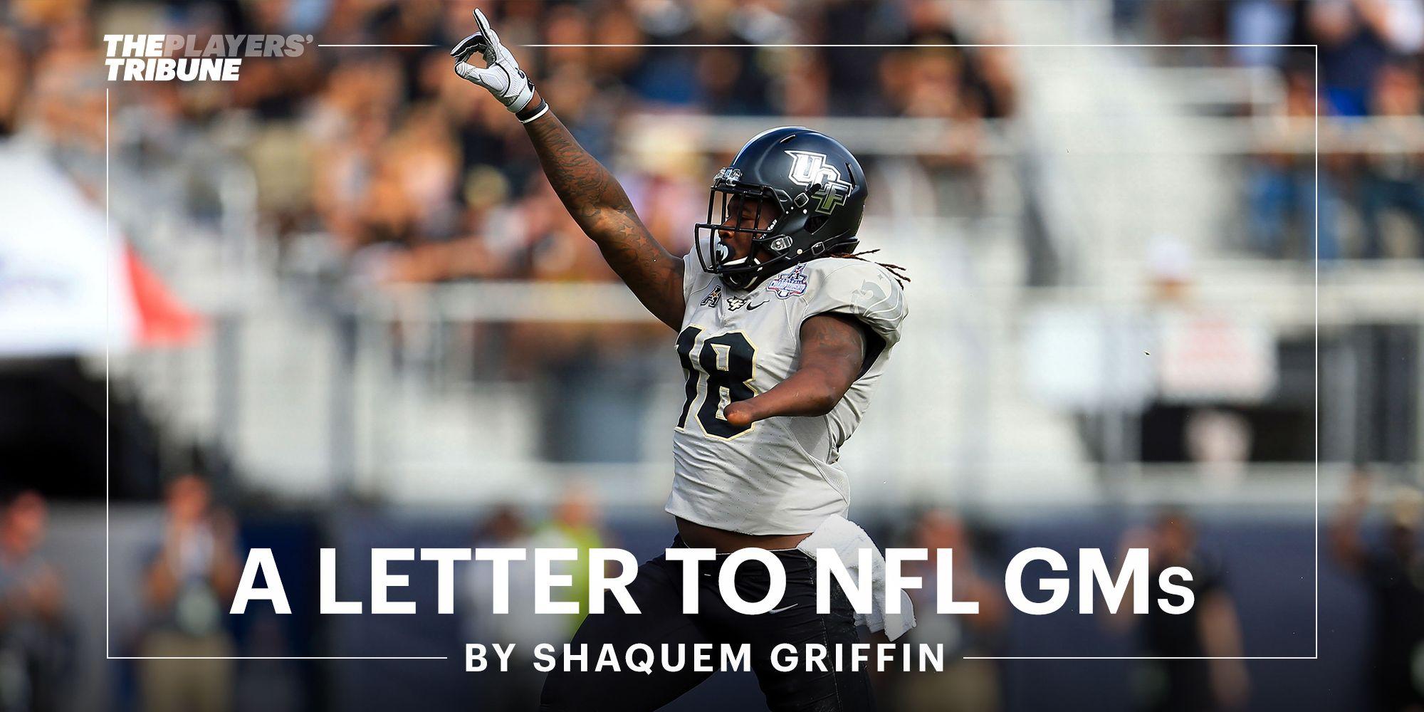 A Letter to NFL GMs By Shaquem Griffin Nfl, Lettering