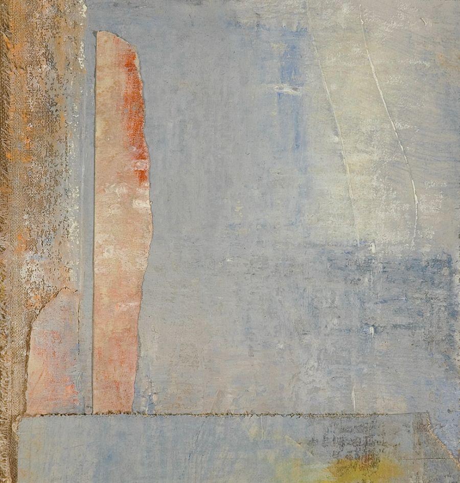 "Mary Conover, ""Silent Season III"", oil and mixed media on canvas"