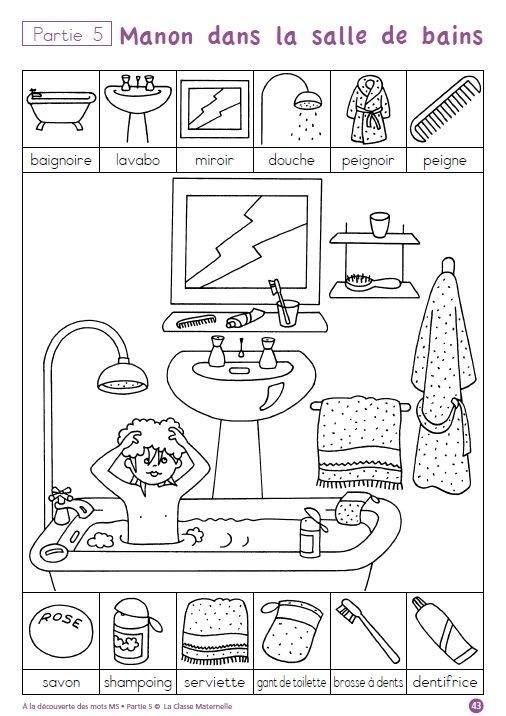 bathroom vocabulary jeux pinterest vocabulaire. Black Bedroom Furniture Sets. Home Design Ideas