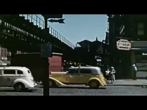 vintage everyday: A rare and amazing color footage captured scenes of New York City in 1939