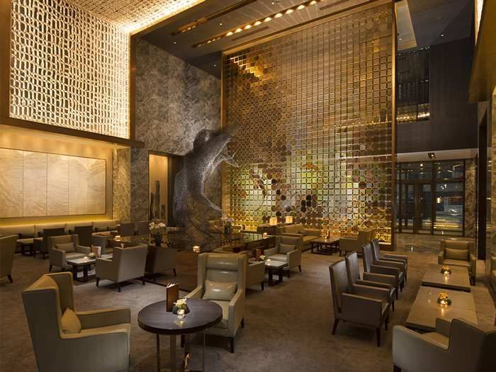 Conrad Beijing Hotel, China – Lobby Lounge | Feature Wall ...