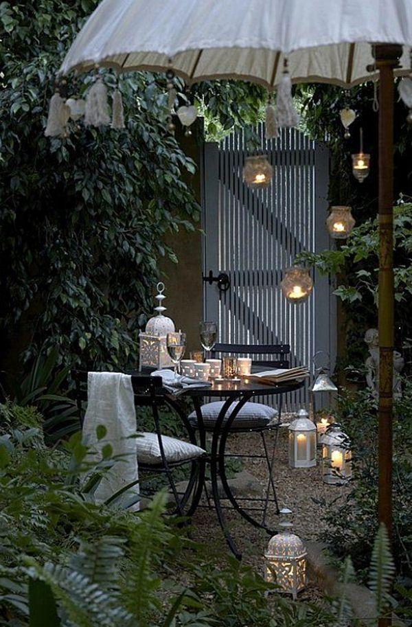 Ideas para exteriores Iluminación, Terrazas y Jardín