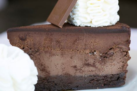 Chocolate Cheesecake...My terrible down fall, no willpower. It's so sad! Yummmmy!!