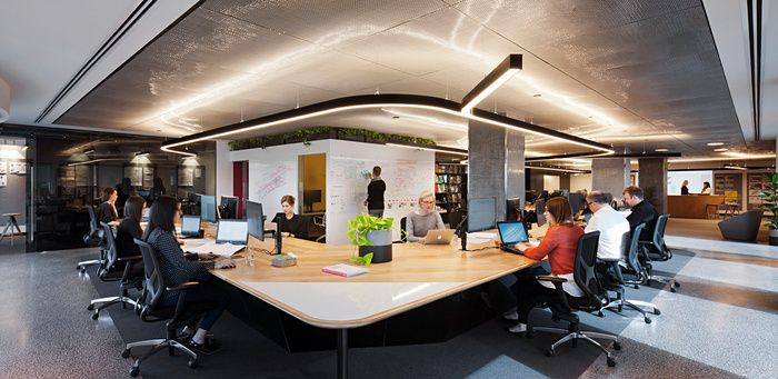 Unispace has designed the new offices for their growing team located in melbourne australia a workplace designed to resonate with unispaces methodology