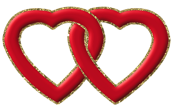 Two Red Hearts With Gold Frame Png Clipart Clip Art Freebies Clip Art Clip Art Borders