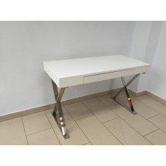 Konsole Weiß Wandtisch Mit Verchromten Gestell Schreibtisch In