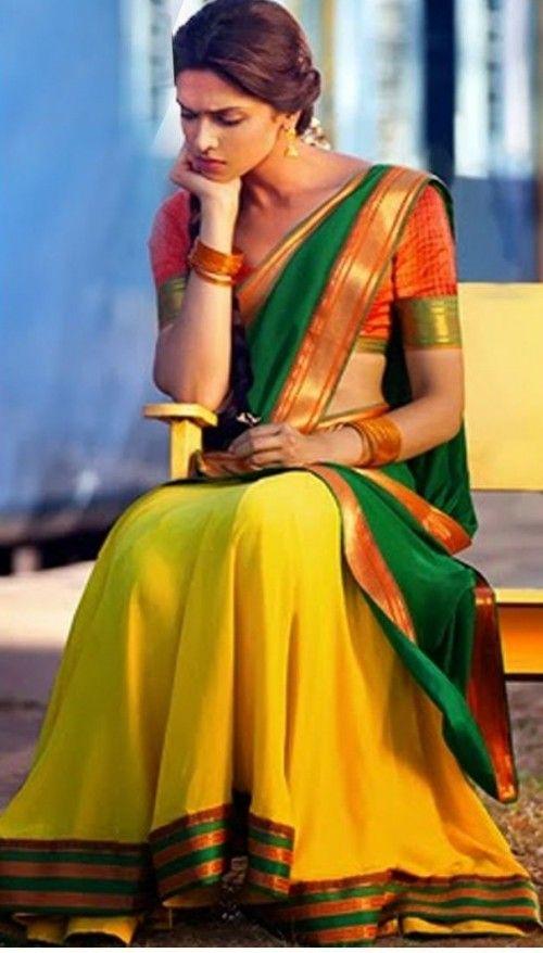 Want a similar yellow and green saree like Deepika ...