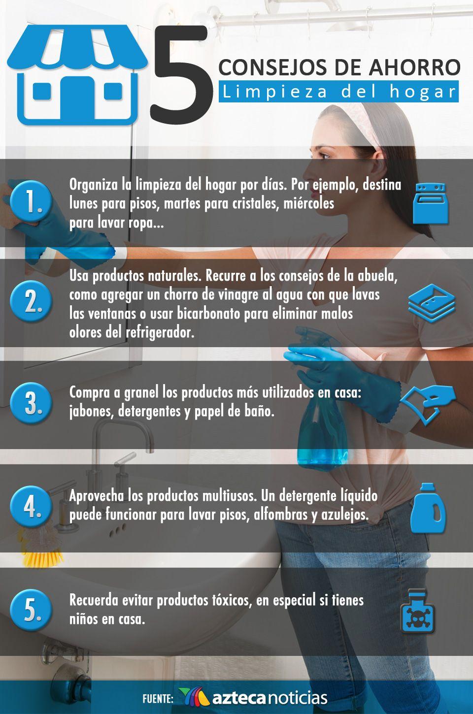 5 Consejos De Ahorro Limpieza Del Hogar Infografia Www