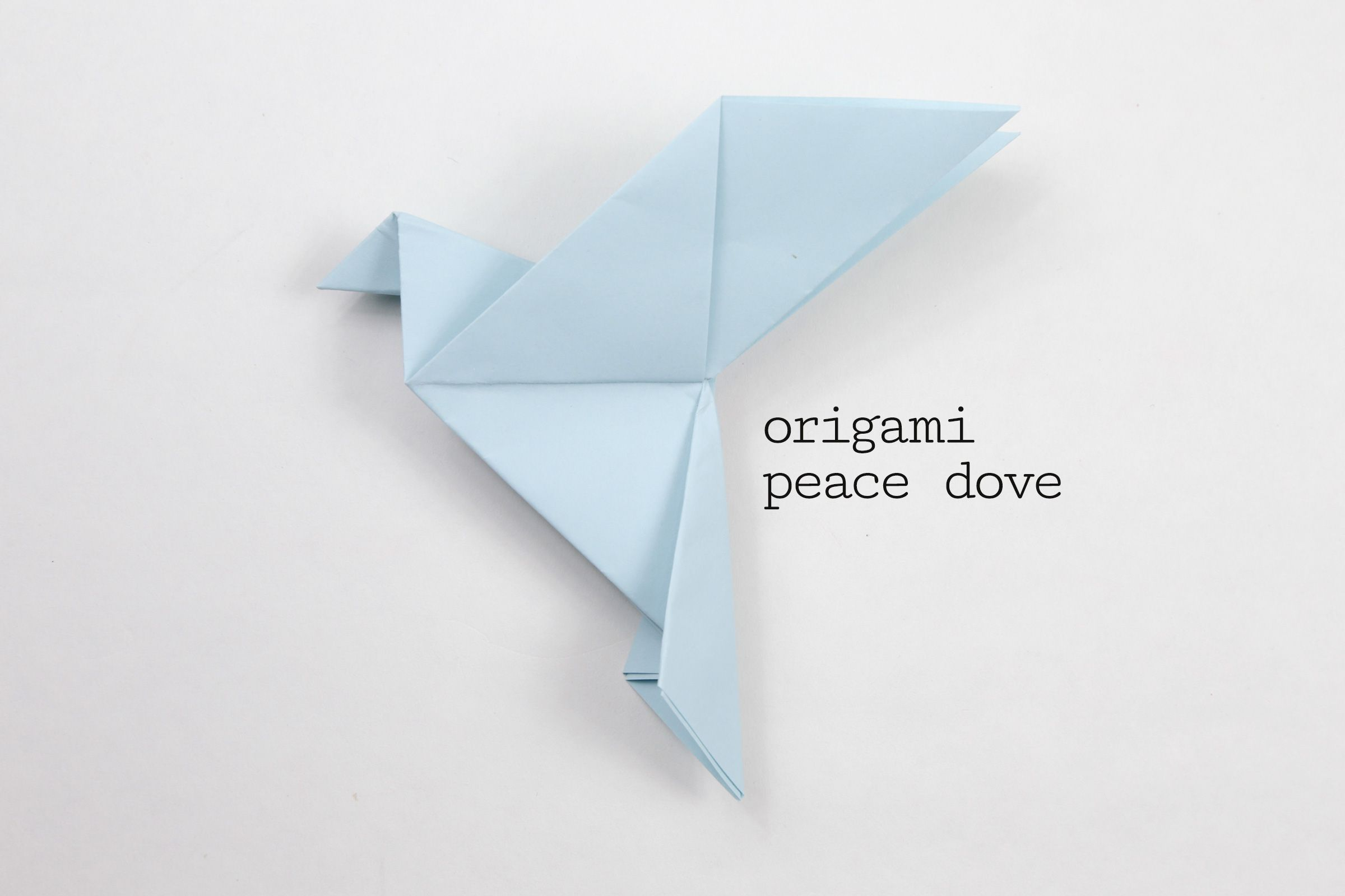 Learn How To Make A Traditional Origami Peace Dove Origami Birds