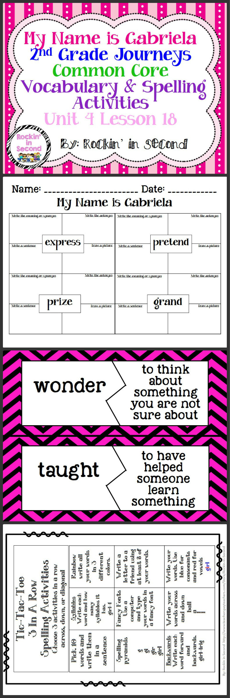 Worksheet How To Spell Vocabulary now ben lesson 30 spelling vocab activities in this bundle journeys my name is gabriela 18 you
