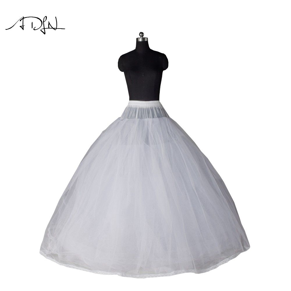 70e7e77e9f ADLN Ball Gown Style 7 Layer No Hoop Tulle White Petticoat Adult Wedding  Dress Crinoline Petticoat