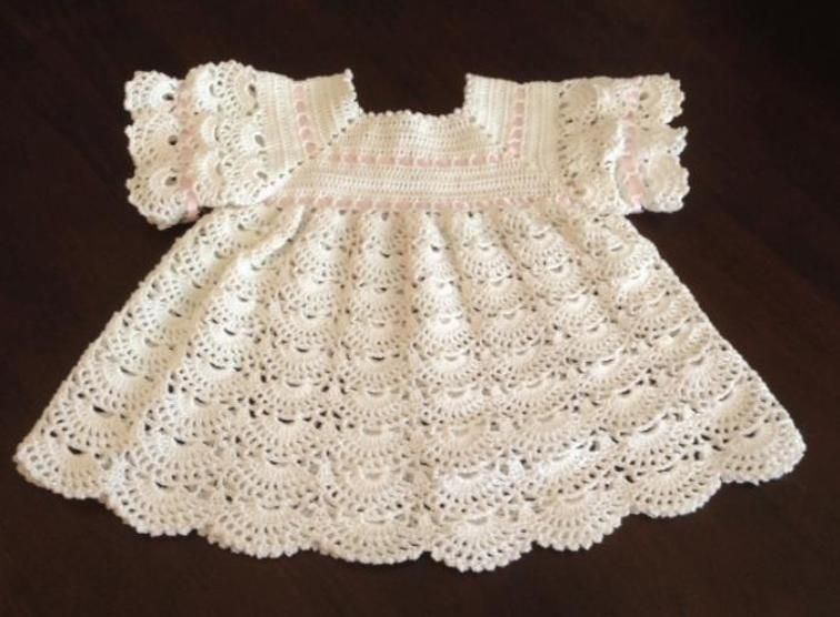 Baby Shell Dress Crochet | Pinterest