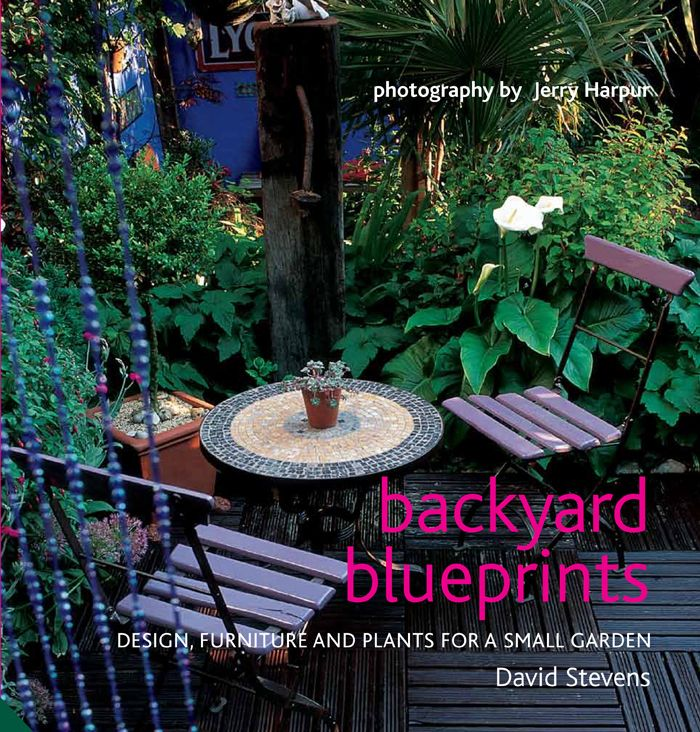 backyard blueprints design furniture and plants for a small garden by david